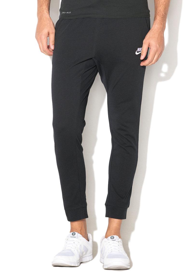 Pantaloni sport cu logo brodat