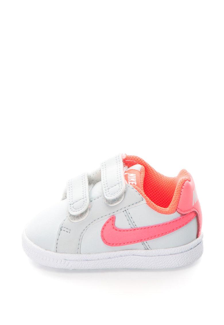 Nike Pantofi sport cu insertii de piele Court Royale 833656