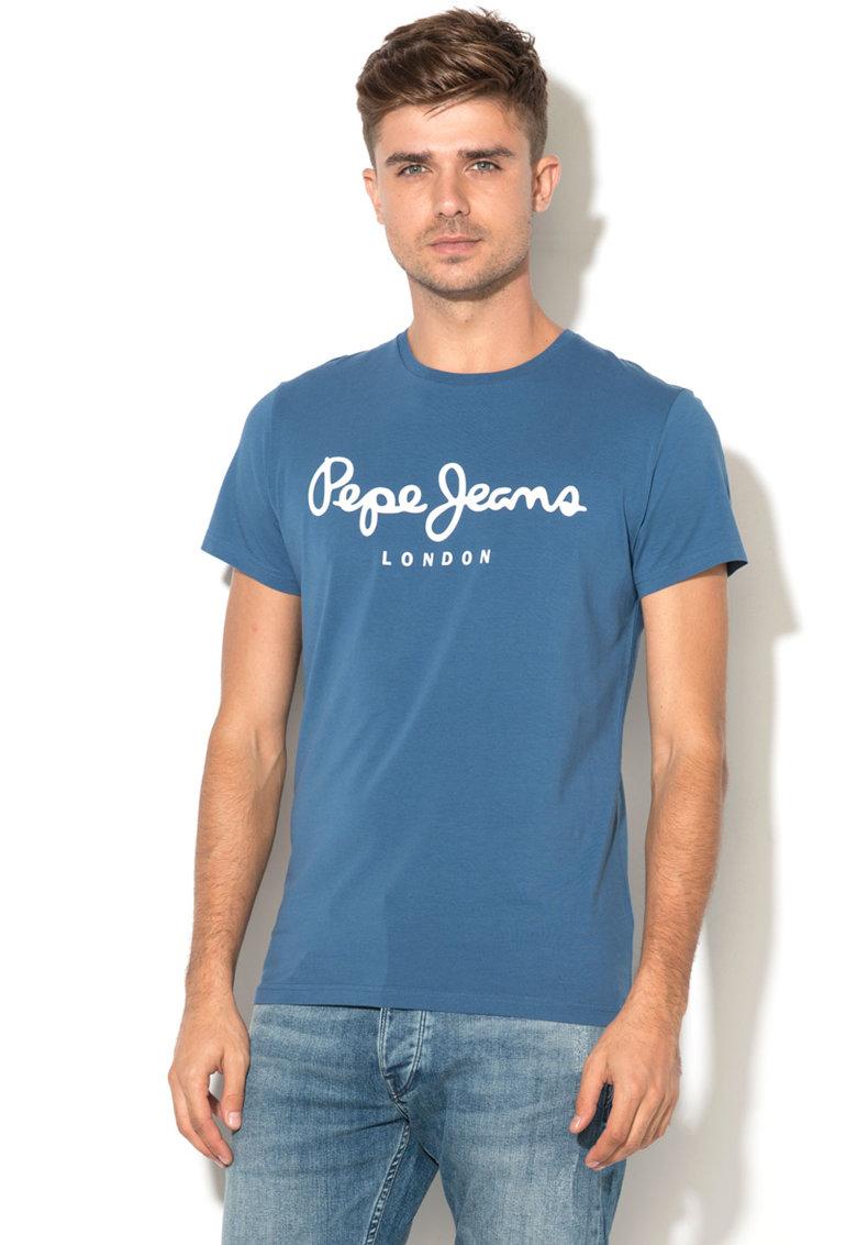 Pepe Jeans London Tricou slim fit cu imprimeu logo Origina