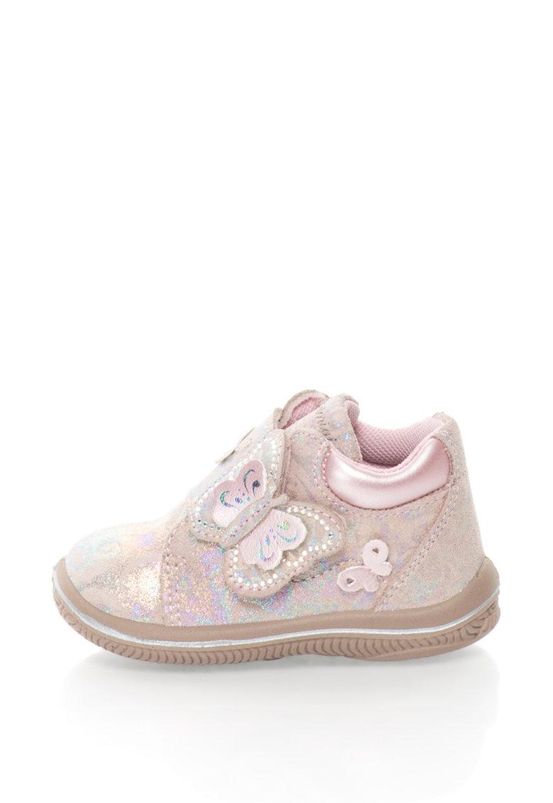 Primigi Pantofi sport de piele intoarsa cu detalii cu irizatii