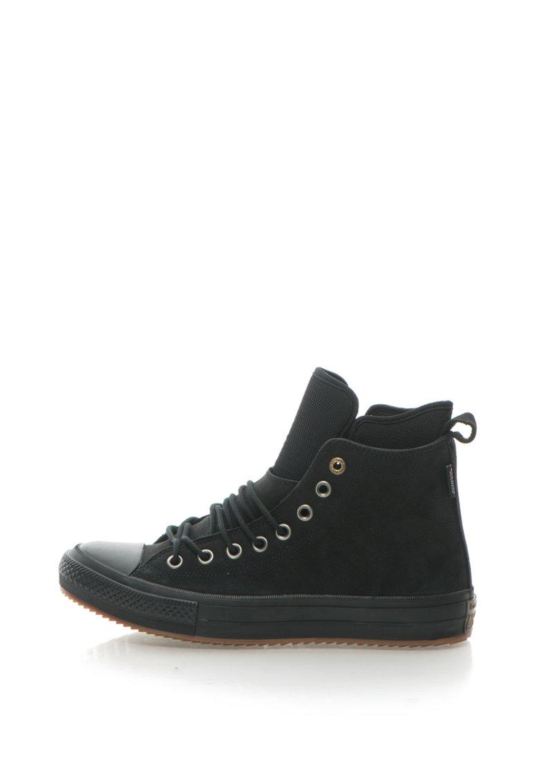 Pantofi sport inalti impermeabili de piele nabuc Chuck Taylor All Star de la Converse