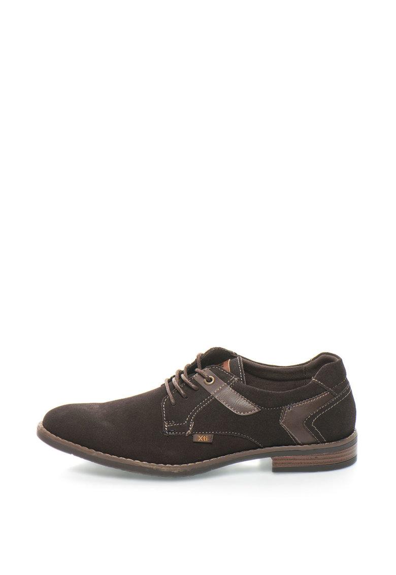 Pantofi Casual De Piele Intoarsa Si Piele