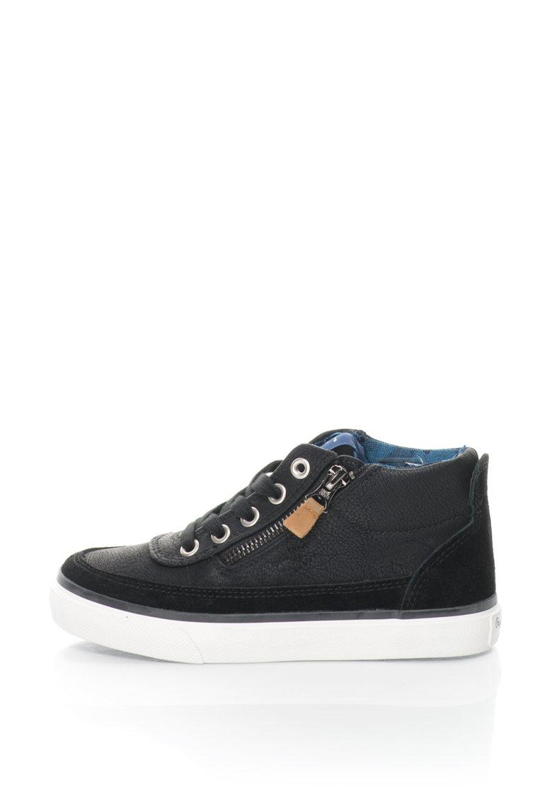 Pepe Jeans Pantofi sport inalti cu garnituri de piele intoarsa Traveler