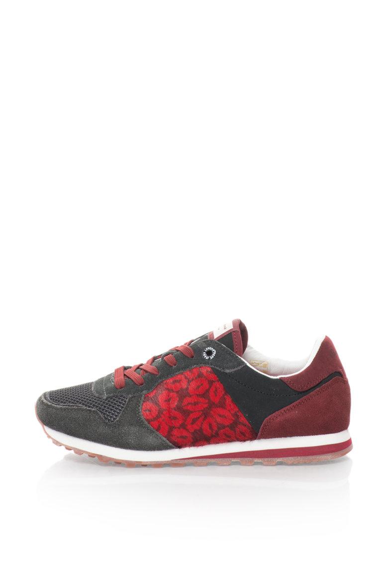 Pepe Jeans Pantofi sport cu insertii de piele cu par scurt Verona