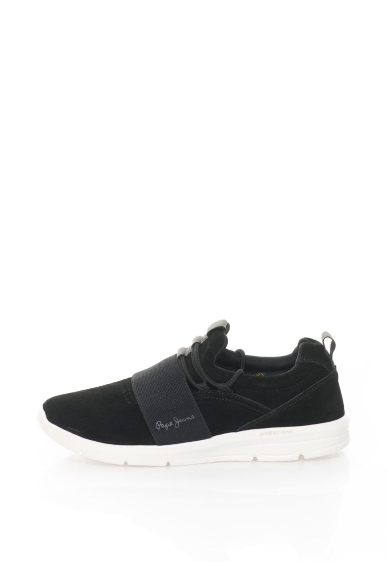 Pantofi sport de piele intoarsa cu garnitura elastica Jayden