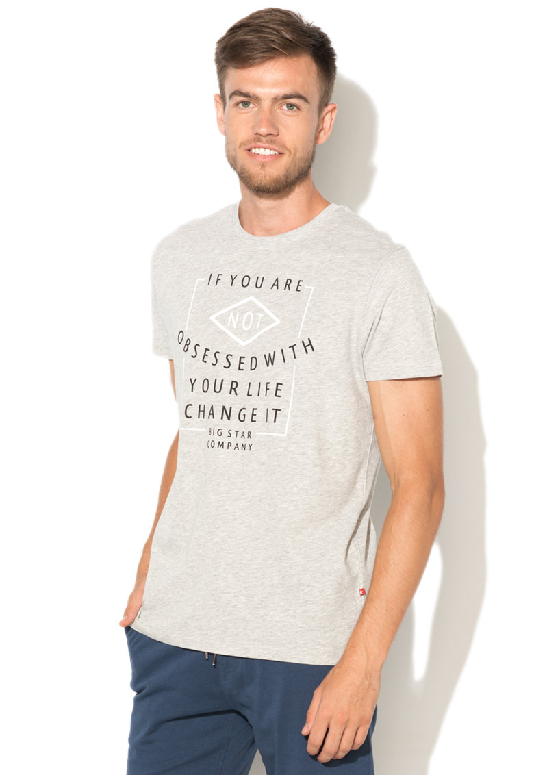 Big Star Tricou cu imprimeu text Cuthbert
