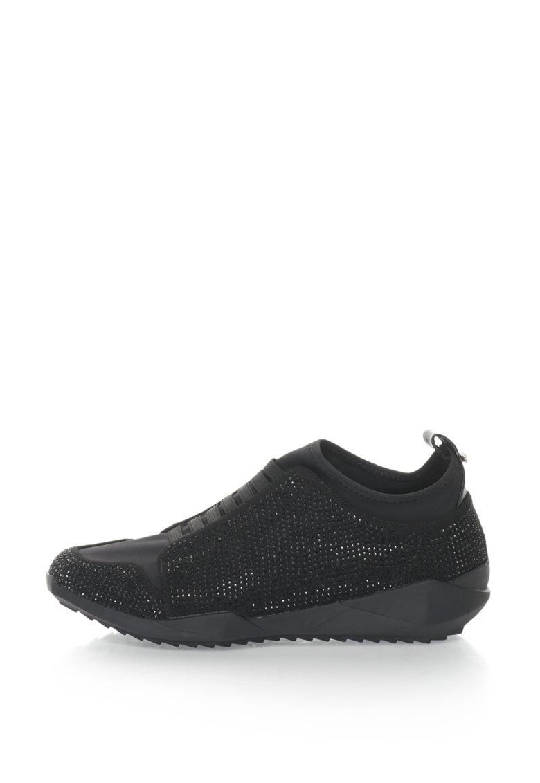Oakoui Pantofi sport slip-on cu strasuri