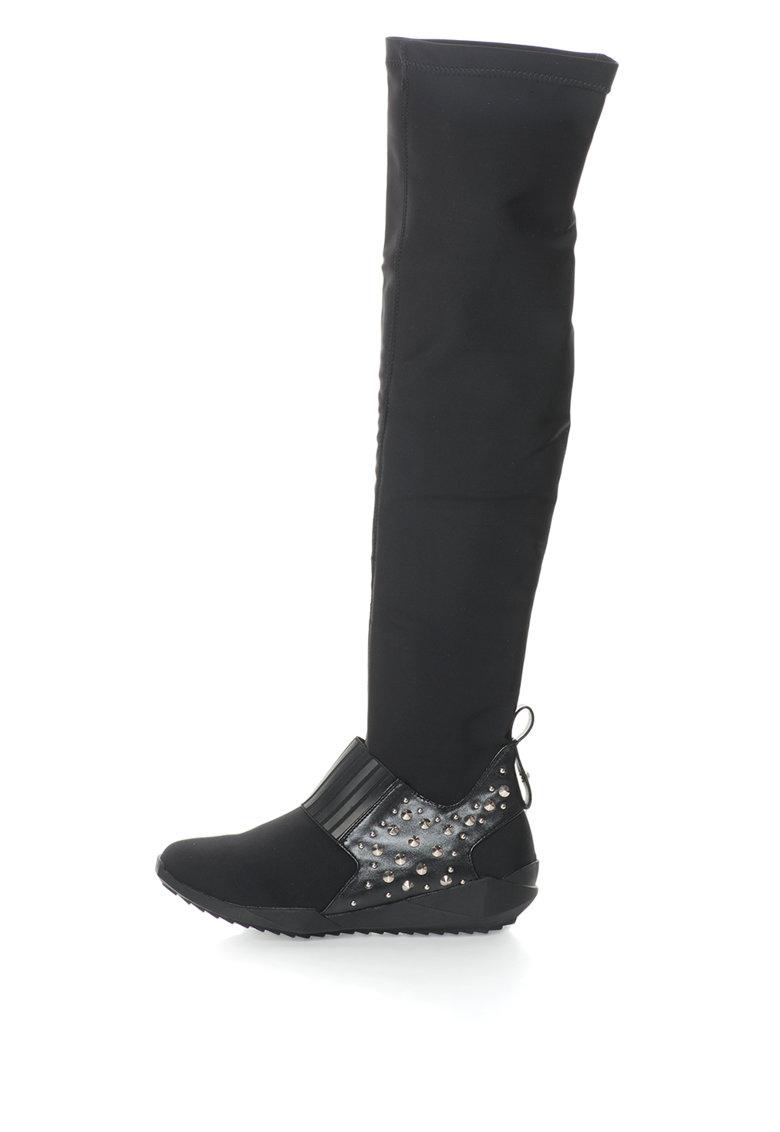 Oakoui Cizme lungi elastice cu nituri