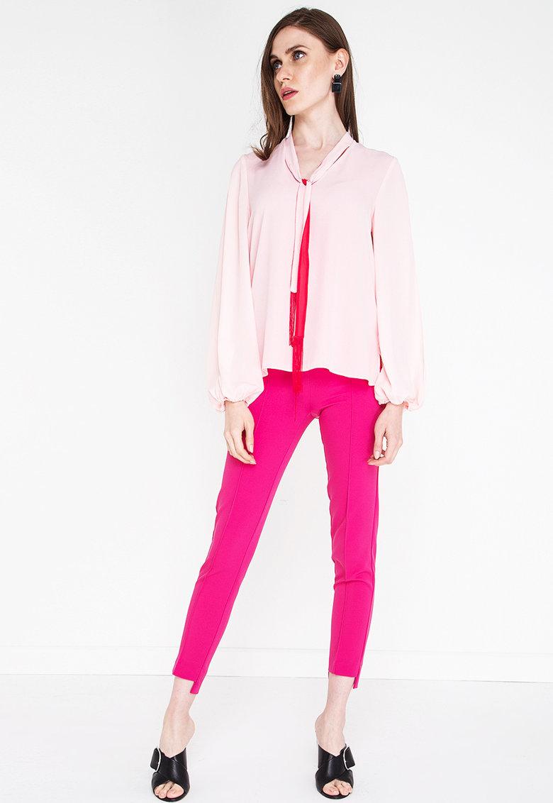 NG Style Bluza cu funda cu panglici