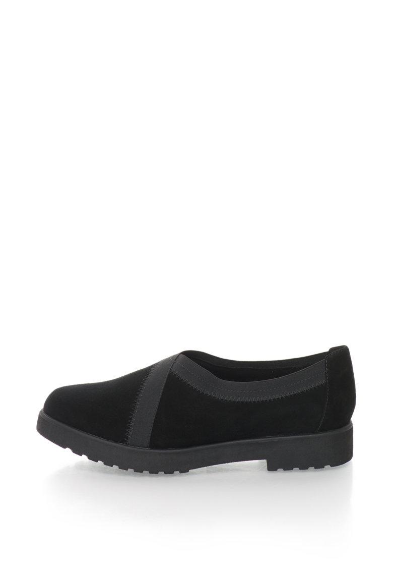 Clarks Pantofi de piele intoarsa Bellevue Cedar