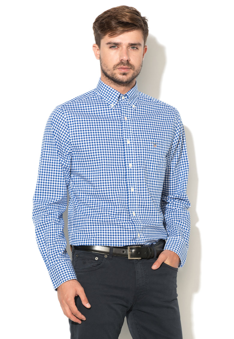 Gant Camasa cu model gingham The Poplin