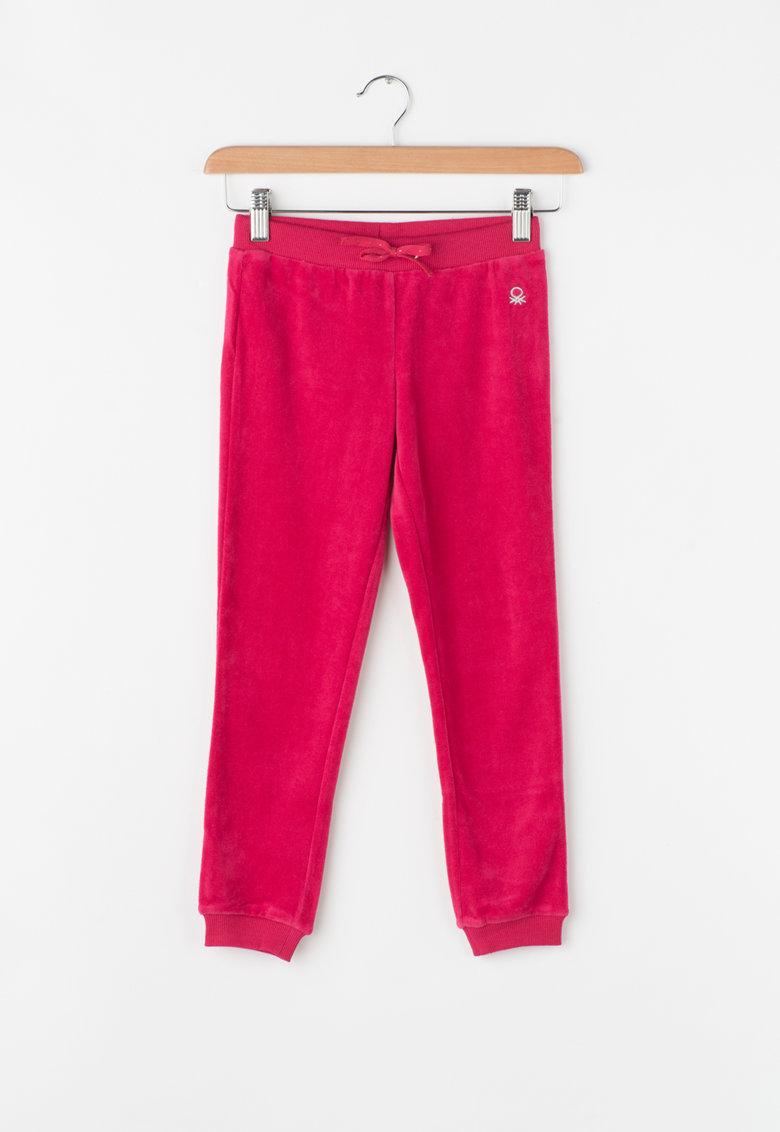 United Colors Of Benetton Pantaloni sport din catifea cu snur pentru ajustare