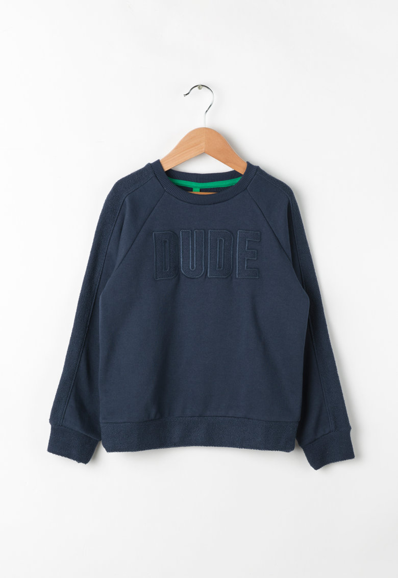 Bluza sport cu text brodat de la United Colors Of Benetton