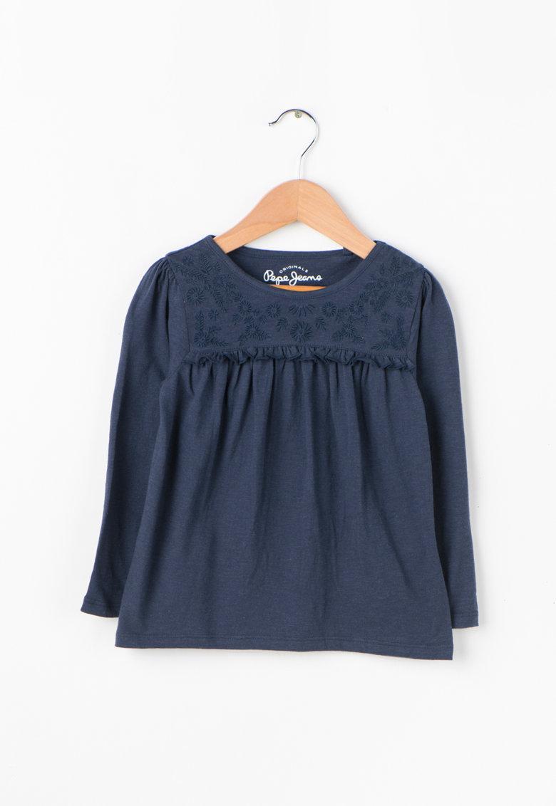 Pepe Jeans London Bluza cu motive florale brodate Keira