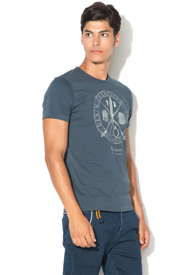 Pepe Jeans London Tricou regular fit cu model grafic Carver
