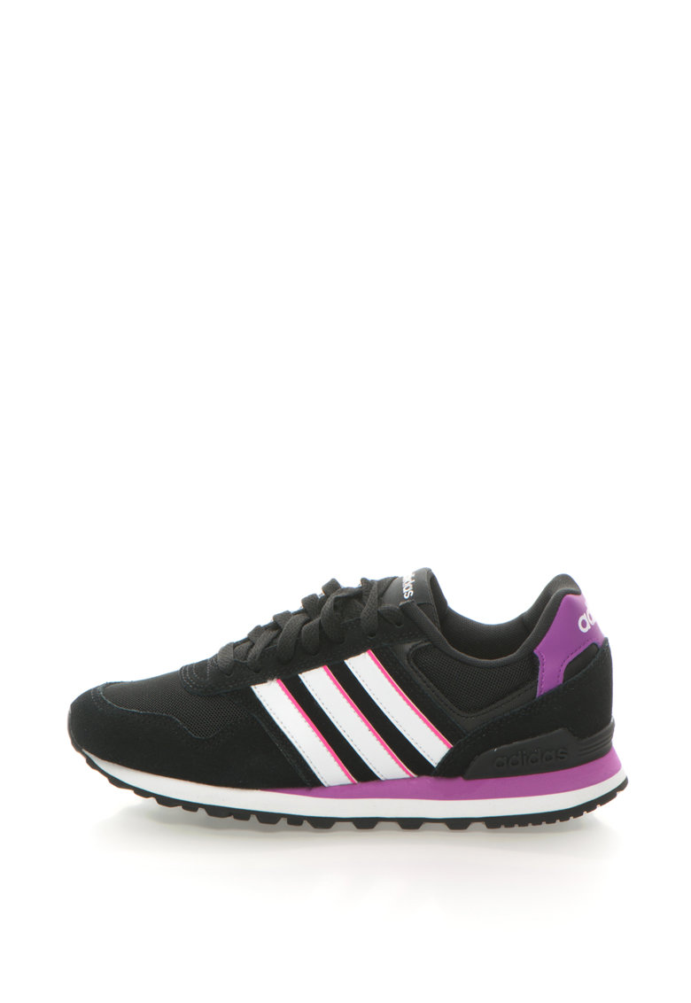 adidas NEO – Pantofi sport cu garnituri de piele intoarsa 10K – Negru/Alb