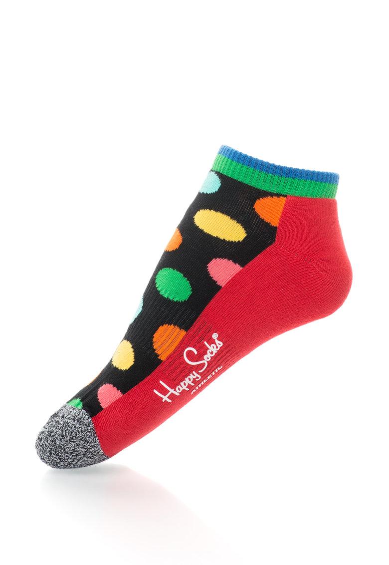Happy Socks Sosete scurte unisex cu buline Athletic Big