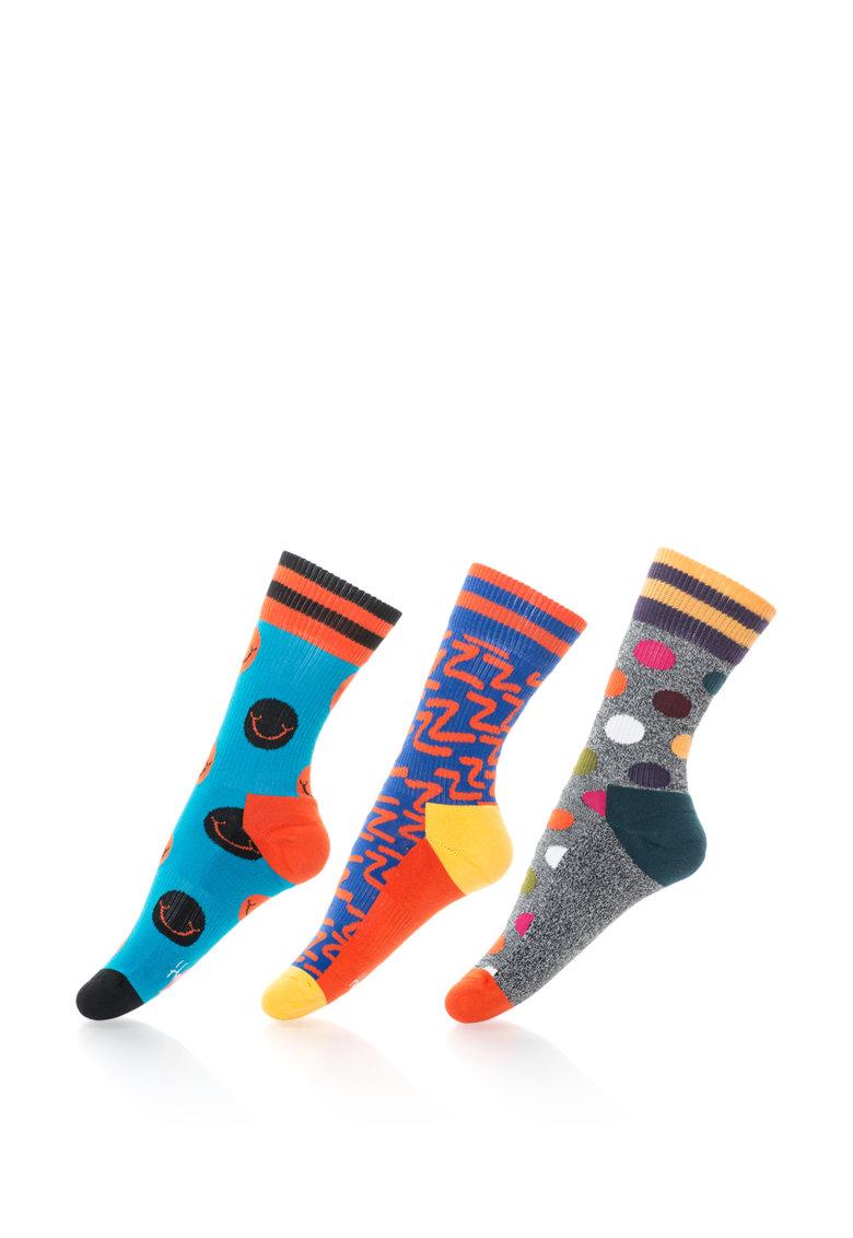 Happy Socks Set de sosete cu modele diverse – 3 perechi