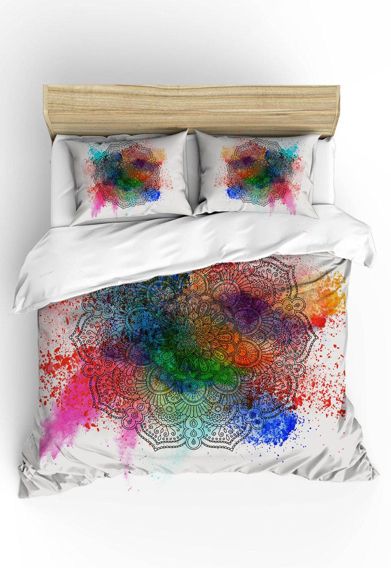 Set de pat cu imprimeu mandala