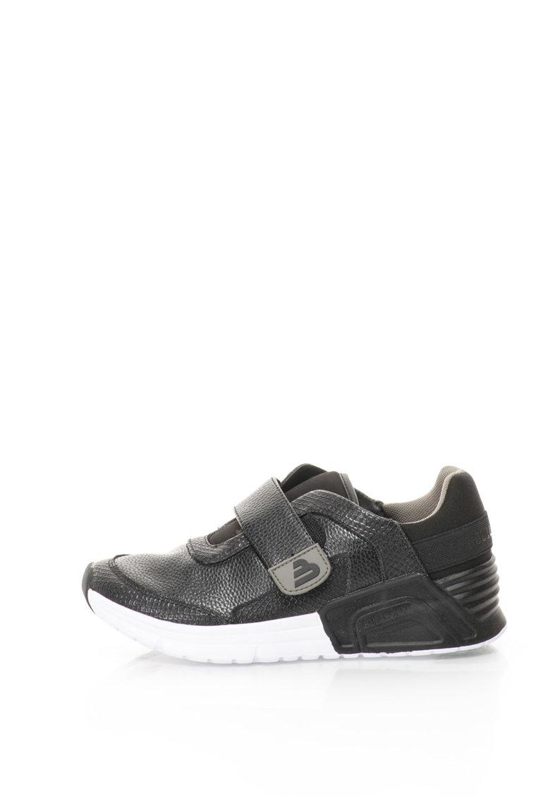 Bullboxer Pantofi sport cu velcro si garnituri de piele sintetica