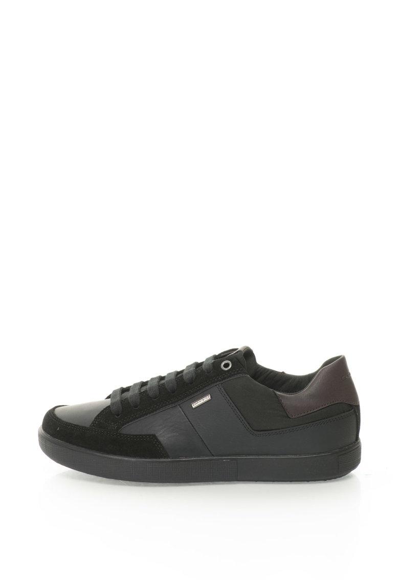 Geox Pantofi sport din piele si material textil Taiki