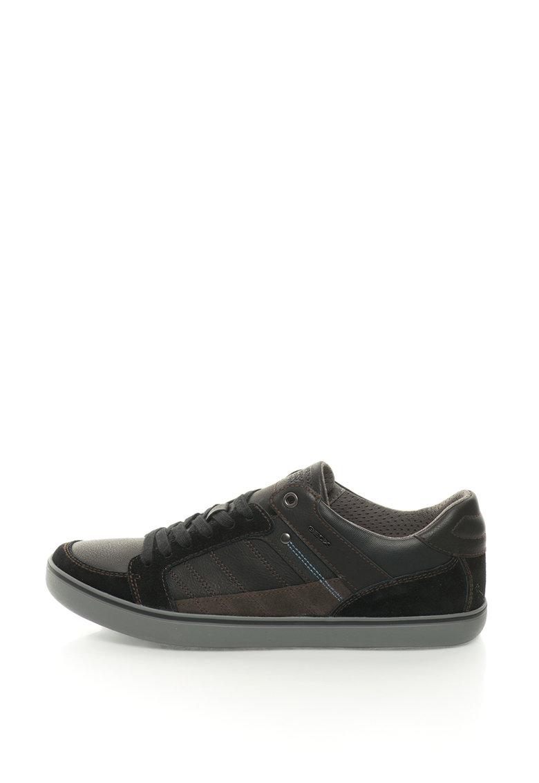 Geox Pantofi sport cu garnituri de piele intoarsa Box