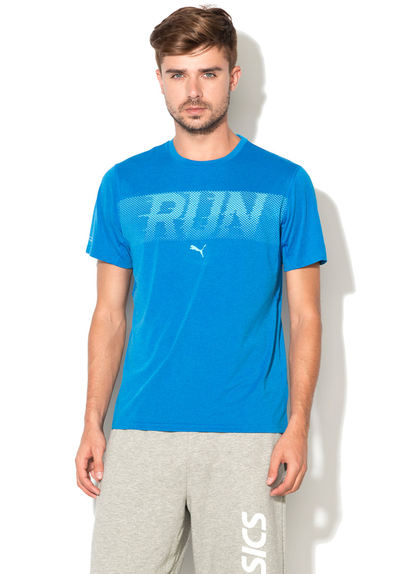 Puma Tricou cu imprimeu text Run