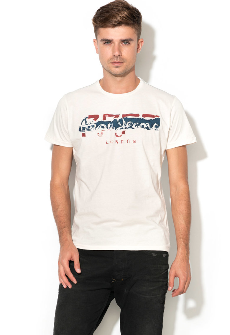 Pepe Jeans London Tricou regular fit cu logo Maiden