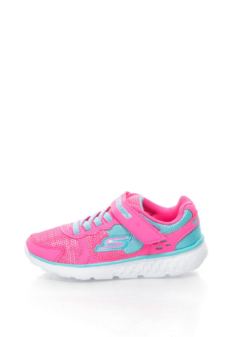 Pantofi sport cu insertii de plasa GO RUN 400 de la Skechers
