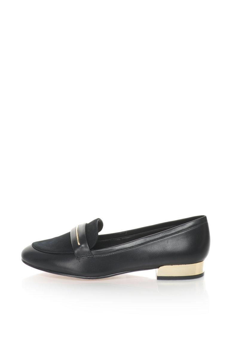 Pantofi Loafer De Piele Sintetica Si Piele Intoarsa Sintetica Claurinda