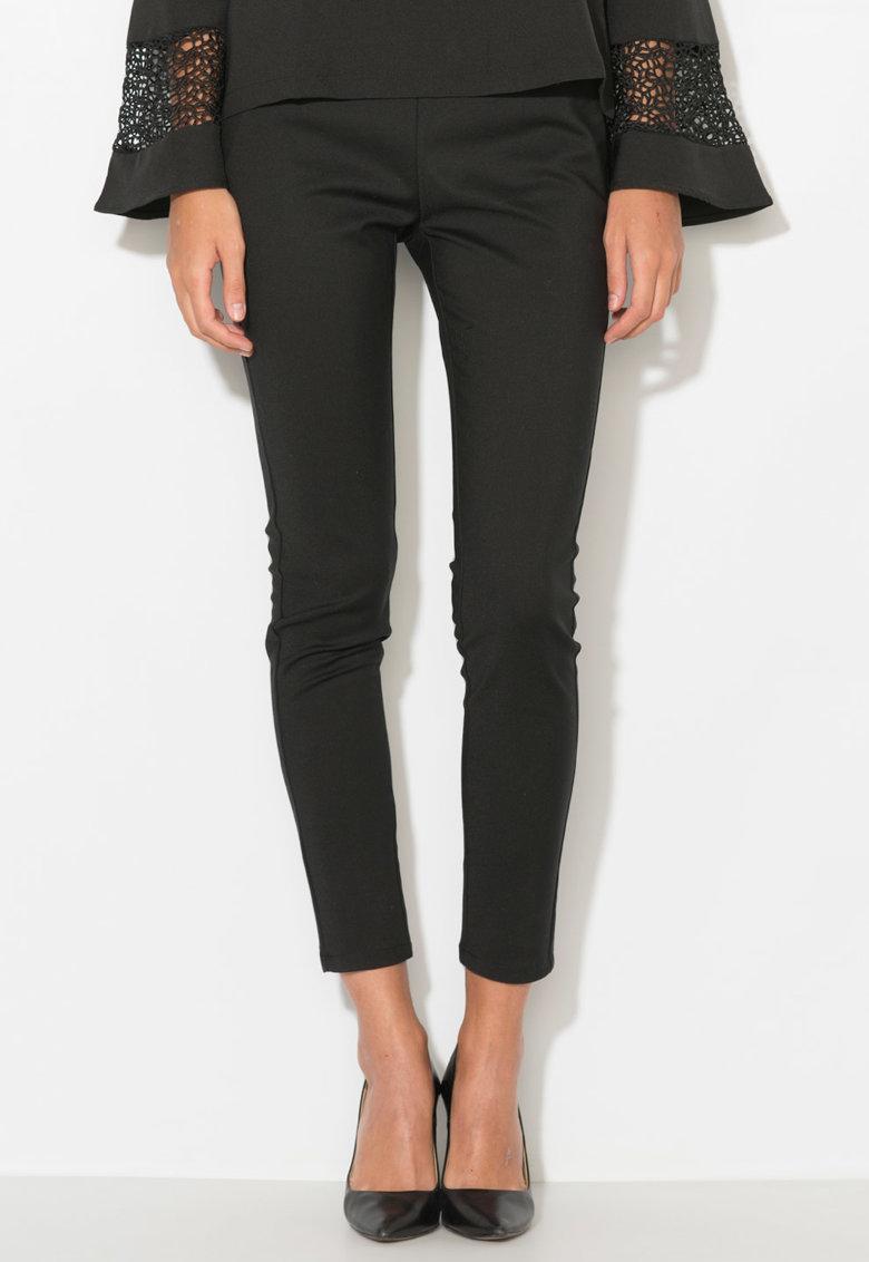 Zee Lane Denim Pantaloni cu garnituri de piele sintetica