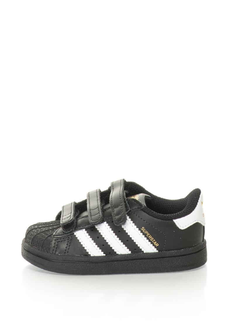 Adidas ORIGINALS Pantofi sport cu velcro Superstar – Negru/Alb