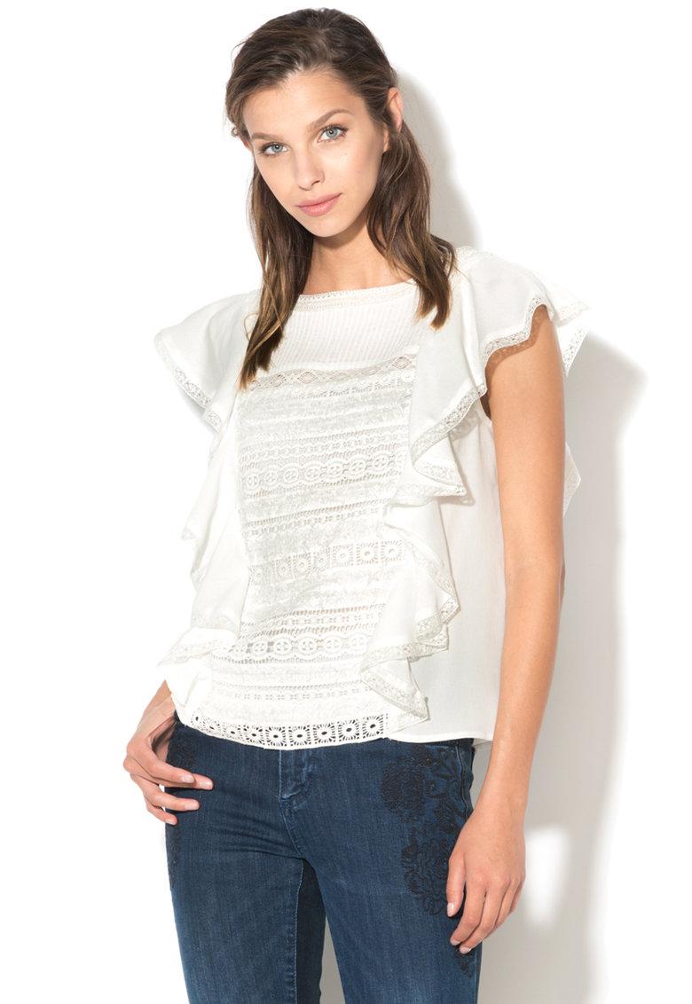 DESIGUAL Bluza cu segment crosetat de dantela Misterio