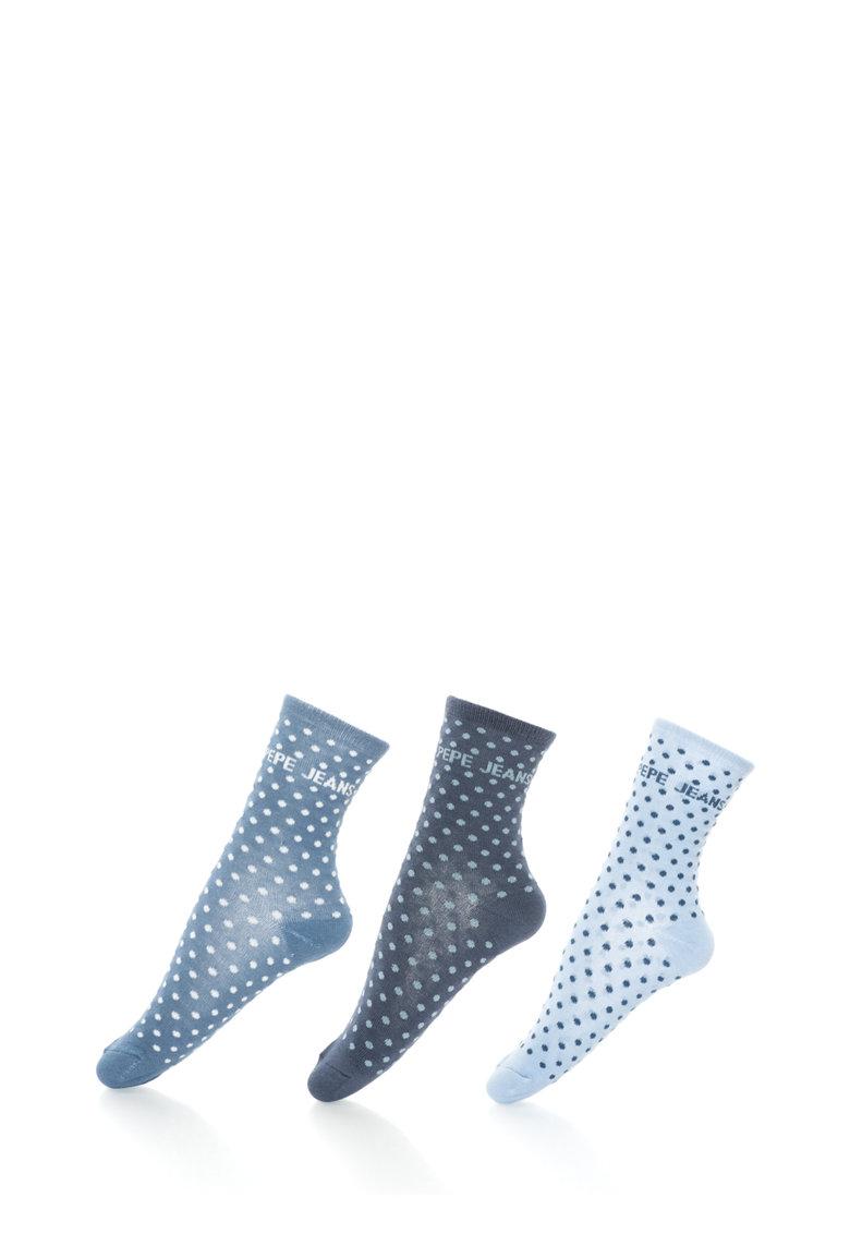 Pepe Jeans London Set de sosete cu buline Harmony – 3 perechi