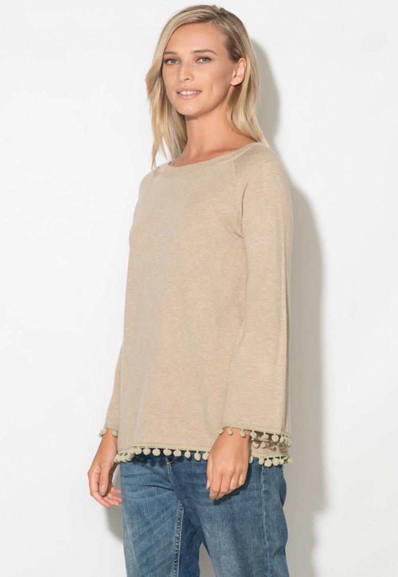 Zee Lane Bluza tricotata fin cu aplicatii