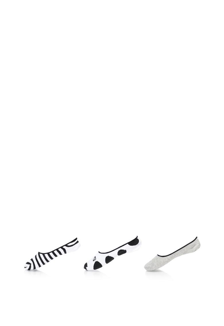 Set de sosete foarte scurte cu diverse modele – 3 perechi de la ROXY