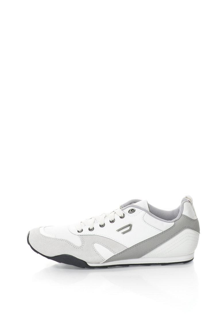 Pantofi sport cu garnituri de piele si piele intoarsa Dynagg de la Diesel