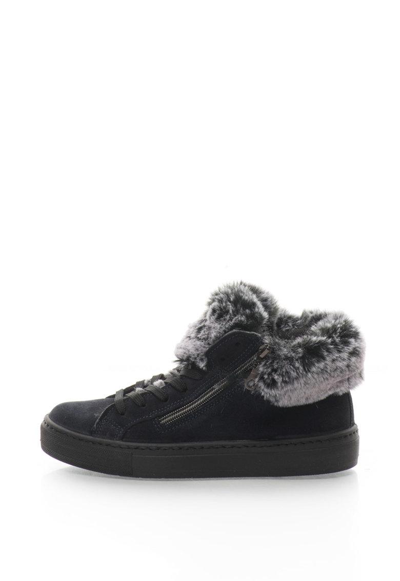 Oakoui Pantofi sport inalti de piele intoarsa