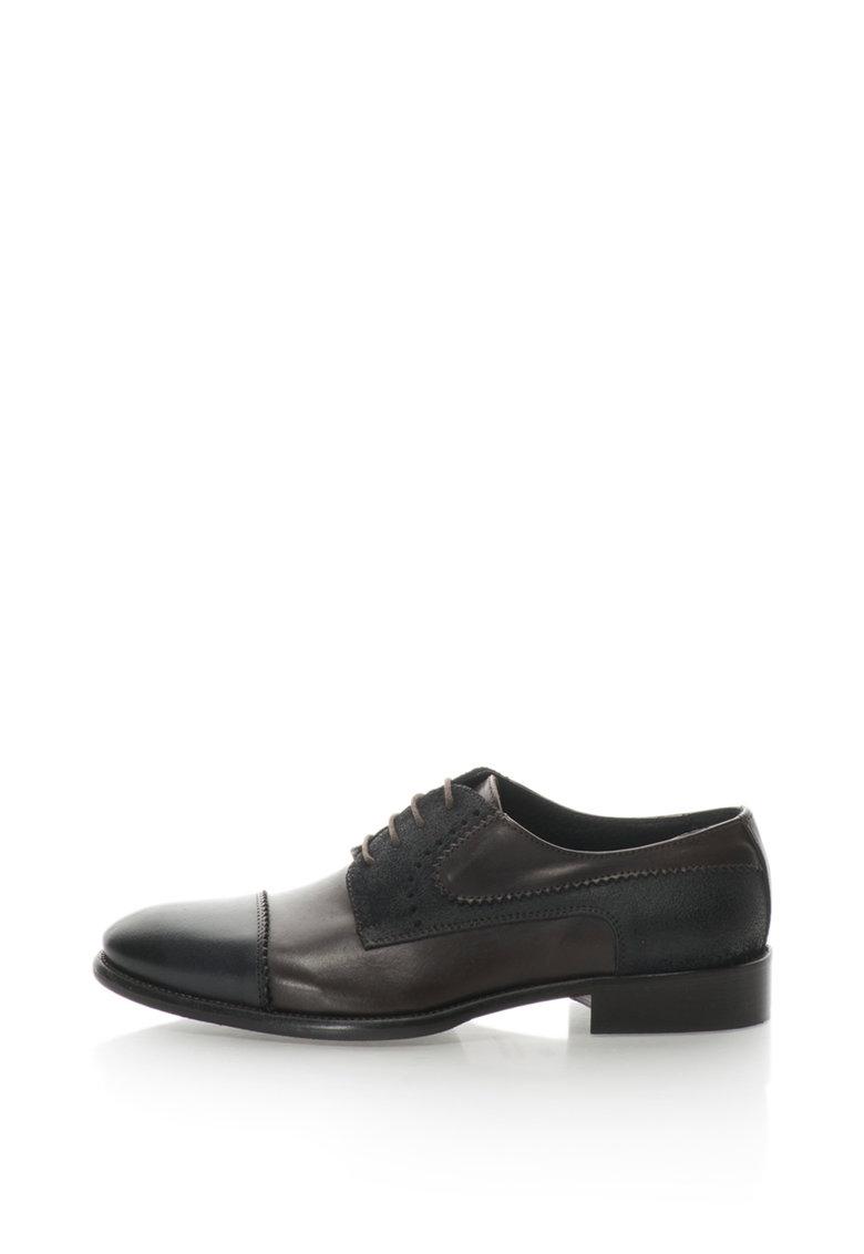 Zee Lane Pantofi derby de piele si piele intoarsa