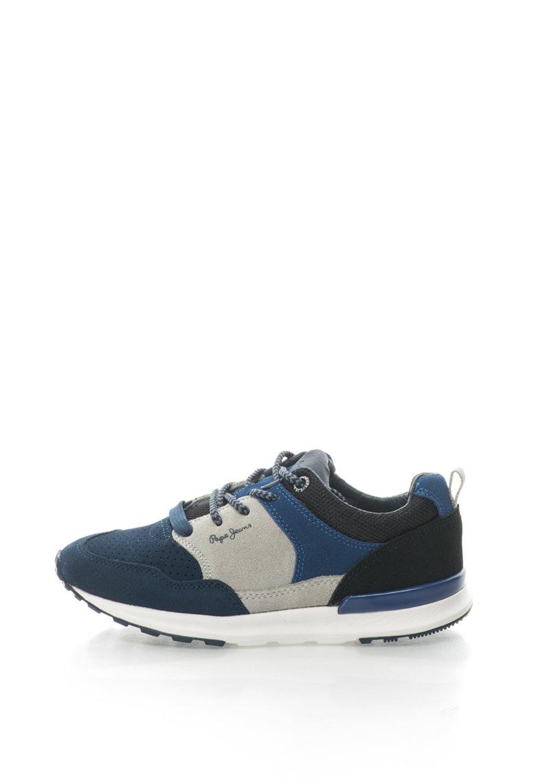 Pantofi sport cu piele intoarsa si garnituri textile Boston de la Pepe Jeans – PBS30314-595