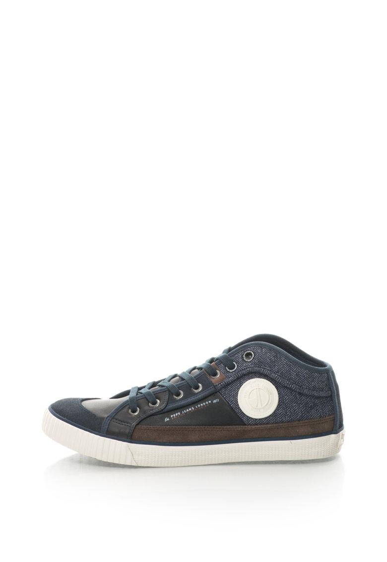Pepe Jeans Pantofi sport cu garnitura de piele intoarsa sintetica Industry