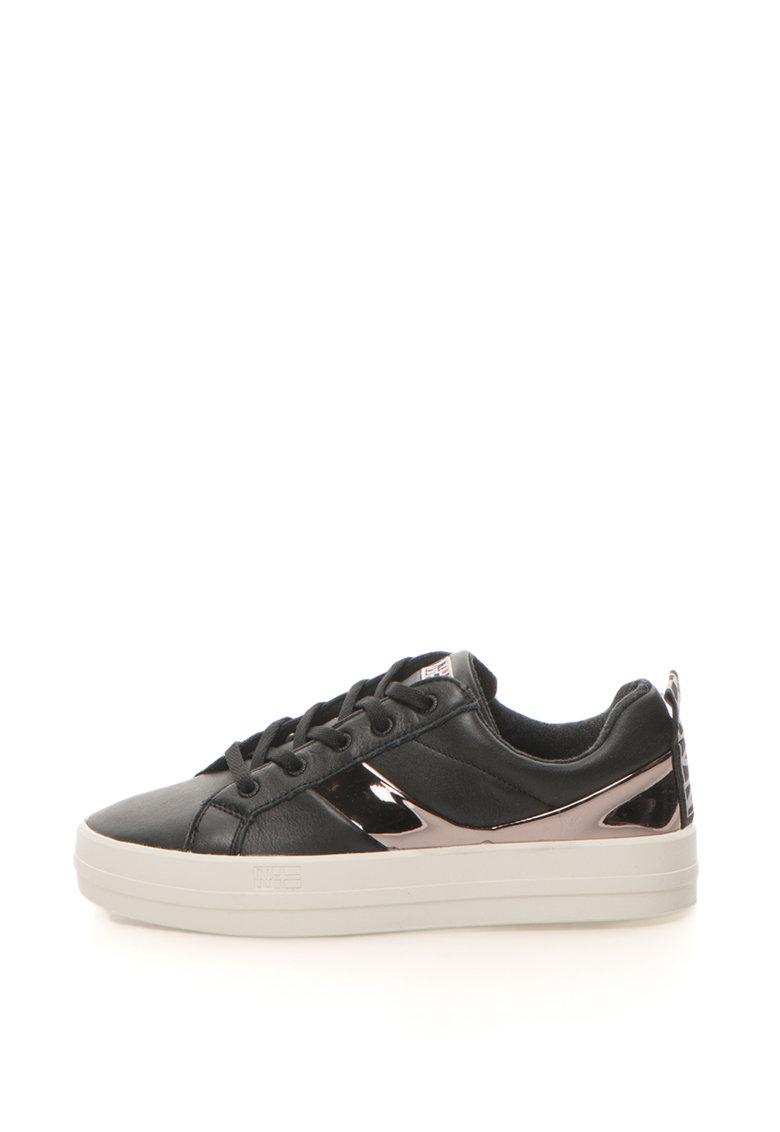 Napapijri Pantofi sport de piele cu detalii cu aspect oglinda Dahlia