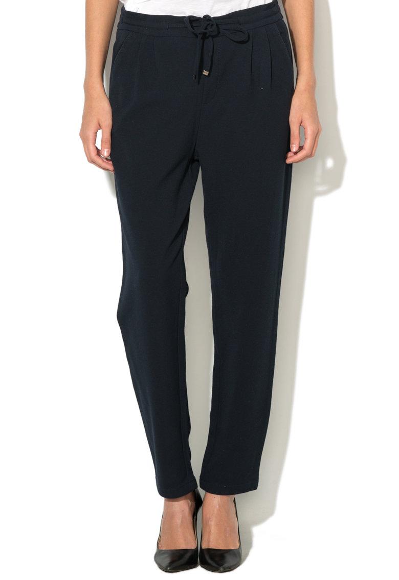 Pantaloni jogger chino texturati cu snur pentru ajustare de la EDC by Esprit