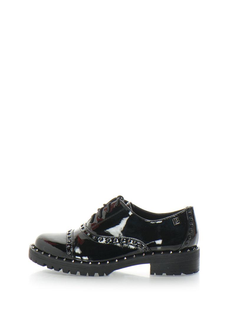 Pantofi de piele lacuita sintetica cu tinte