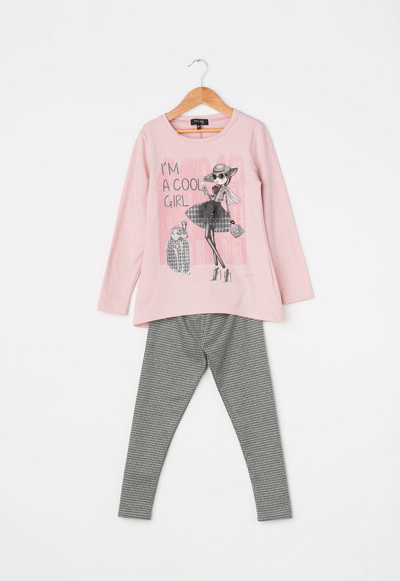 Zee Lane Kids Set de bluza si colanti cu aplicatii