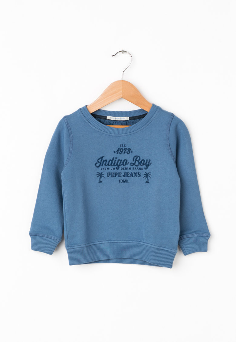 Pepe Jeans London Bluza sport cu text brodat Rober