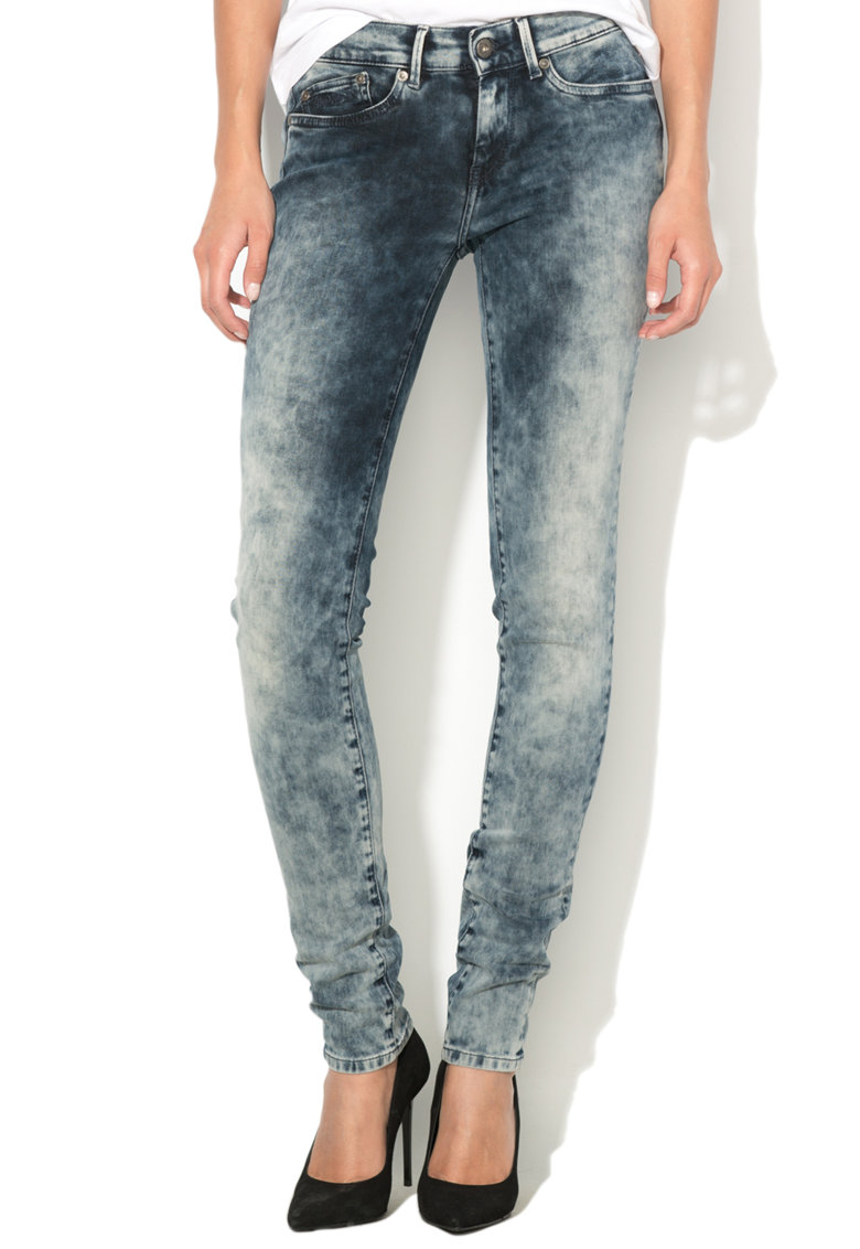 Pepe Jeans London Blugi skinny fit cu talie regular Pixie