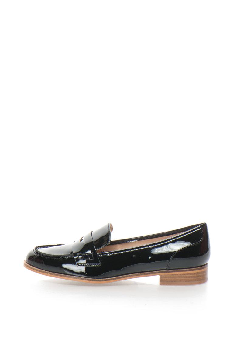 Pantofi loafer cu piele lacuita