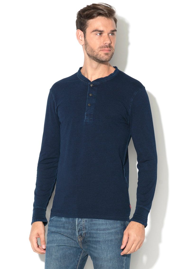 Bluza henley cu aspect de denim de la Levis – 27560-0017