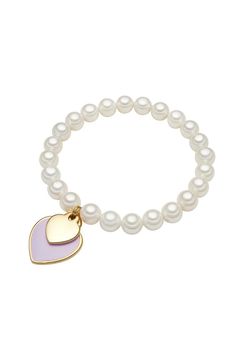 Zee Lane Bratara din perle cu pandantive in forma de inima